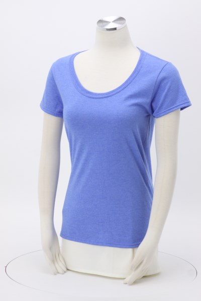 Gildan Softstyle Scoop Neck T-Shirt - Ladies' - Colours - Screen 360 View