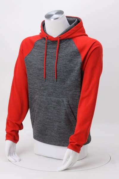 Dynamic Heather Two-Tone Hoodie 360 View
