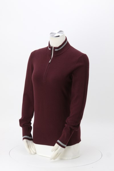 Cutter & Buck Lakemont Tipped Half-Zip Sweater - Ladies' 360 View
