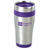 Steel Tumbler with Colour Trim - 16 oz.