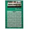 Bic 20 mil Calendar Magnet - Thank You