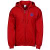 View Image 1 of 2 of Gildan 50/50 Full-Zip Hooded Sweatshirt - Embroidered