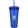 Coloured Double Wall Tumbler with Straw - 24 oz.