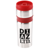 View Image 1 of 3 of Steel Belted Travel Tumbler - 14 oz. - Closeout