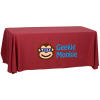 View Image 1 of 6 of Serged Open-Back Polyester Table Throw - 6'