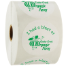 """View Image 1 of 2 of Value Stickers by the Roll - Circle - 1-1/2"""""""