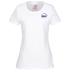 View Image 1 of 2 of Fruit of the Loom HD T-Shirt - Ladies' - Embroidered - White
