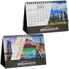 View Image 1 of 5 of World Scenic Desk Calendar - French/English