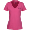View Image 1 of 2 of Fruit of the Loom HD V-Neck Tee - Ladies' - Embroidered - Colours