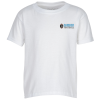 View Image 1 of 2 of Gildan DryBlend 50/50 T-Shirt - Youth - Embroidered - White
