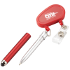 Retractable Badge Holder with Stylus Pen - Closeout