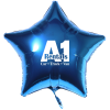 """View Image 1 of 4 of Foil Balloon - 17"""" - Star"""