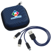 View Image 1 of 5 of Textured 3-in-1 Charging Cable