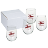View Image 1 of 2 of Stemless White Wine Glass Set - 17 oz.