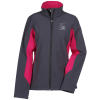 View Image 1 of 2 of Crossland Colourblock Soft Shell Jacket - Ladies'