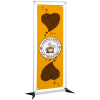"""View Image 1 of 2 of FrameWorx Banner Stand - 23-1/2"""" - Two Sided"""