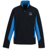 View Image 1 of 2 of Crossland Colourblock Soft Shell Jacket - Men's - 24 hr