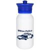 View Image 1 of 4 of Police Officer Hat Sport Bottle - 20 oz.