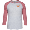 View Image 1 of 3 of Unisex Tri-Blend Baseball Tee - Embroidered
