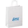 """Matte White Shopping Bag – 13"""" x 10"""""""