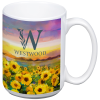 Value White Coffee Mug - 14 oz. - Full Colour