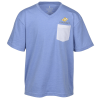 View Image 1 of 3 of Monroe V-Neck Blend Pocket Tee - Youth