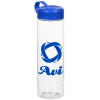 View Image 1 of 2 of Clear Impact Halcyon Water Bottle with Tethered Lid - 24 oz.