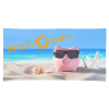 View Image 1 of 3 of Full Colour Microfibre Terry Beach Towel - 30 x 60