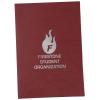 "Linen Paper Two Pocket Mini Folder - 8-3/4"" x 6"""