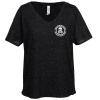 View Image 1 of 3 of Threadfast Tri-Blend Fleck V-Neck T-Shirt - Ladies' - Screen