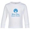 View Image 1 of 5 of Rabbit Skins Jersey Long Sleeve T-Shirt - Toddler - White