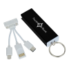 View Image 1 of 5 of Capsule Duo Charging Cable Keychain - 24 hr