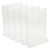 """Clear Sign Holder - 12-1/4"""" x 8-1/2"""" - Pack of 5"""