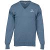 Fine Gauge Cotton Blend V-Neck Sweater