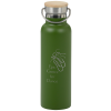 View Image 1 of 3 of Accord Vacuum Stainless Bottle with Wood Lid - 21 oz. - Laser Engraved