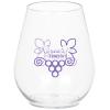 Clear Plastic Stemless Wine Glass - 4 oz.