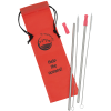 Stainless Steel Straw Set - 2 Pack