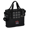 View Image 1 of 5 of Buffalo Plaid Cooler Bag - Embroidered