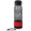 View Image 1 of 6 of Carter Tritan Bottle with Wireless Charger/Power Bank - 26 oz.