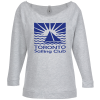 View Image 1 of 3 of Next Level French Terry Raglan 3/4 Sleeve Tee - Ladies'