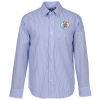 View Image 1 of 3 of Untucked Striped Poplin Shirt - Men's