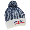 View Image 1 of 3 of Casey Cable Knit Pom Beanie with Cuff