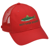 View Image 1 of 3 of Trucker Mesh Back Cap with Face Mask Buttons