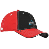 View Image 1 of 4 of Prestige Two-Tone Cap with Face Mask Buttons
