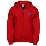 Gildan 50/50 Full Zip Hooded Sweatshirt - Embroidered