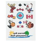 Temporary Tattoo Mini Sheet - Canadian Fun