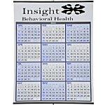 Two-Colour Span-A-Year Wall Calendar