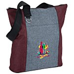 Heathered Fun Tote - Embroidered