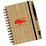 Syracuse Bamboo Cover Notebook - 24 hr