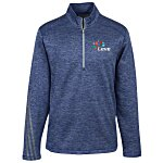 adidas 3 Stripe Brushed Heather 1/4-Zip Pullover - Men